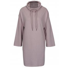 Světle fialové mikinové šaty s rolákem Jacqueline de Yong Asta