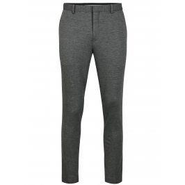 Šedé žíhané oblekové kalhoty Selected Homme Zero-Merce
