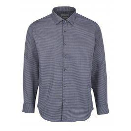 Šedá pánská vzorovaná formální slim fit košile Seven Seas Kansas