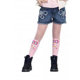 Růžové holčičí punčocháče s motivem sovy Penti Baykus 30 DEN