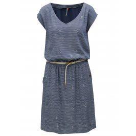 Modré pruhované šaty s páskem Ragwear Carolina