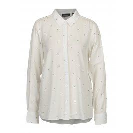 Bílá vzorovaná dámská košile Broadway Ailien