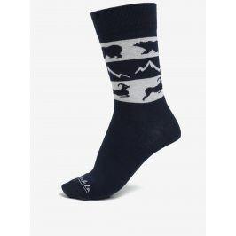 Šedo-modré unisex ponožky s motivem zvířat Fusakle Vysoké Tatry