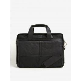 Černá pánská taška na notebook s koženými detaily KARA