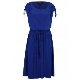 Modré šaty s kulatým výstřihem Dorothy Perkins Curve