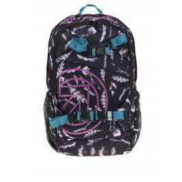 Černý dámský batoh s motivem pírek Meatfly Basejumper 3 20 l