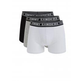 Sada tří boxerek v černé, šedé a bílé barvě Jimmy Sanders