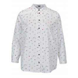 Bílá košile s drobným vzorem Ulla Popken