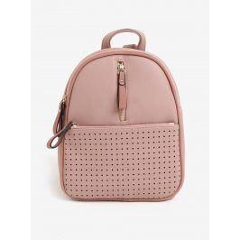 Světle růžový batoh s perforovanými detaily Bessie London
