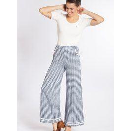 Modré široké kalhoty se vzorem kohoutí stopy Blutsgeschwister