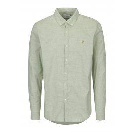 Světle zelená žíhaná slim fit košile Farah Steen