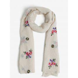 Krémový květovaný šátek VERO MODA Vista