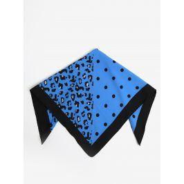Černo-modrý vzorovaný šátek Pieces Matiilda