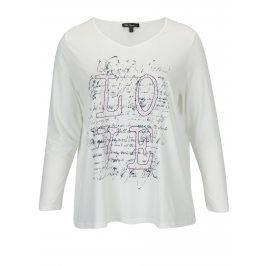 Krémové tričko s potiskem Ulla Popken