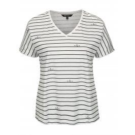Modro-bílé pruhované tričko Ulla Popken