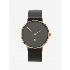 Dámské hodinky ve zlaté barvě s koženým páskem Esoria Alys