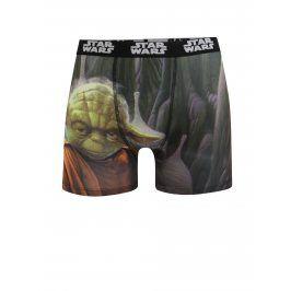 Černo-zelené boxerky s potiskem Star Wars