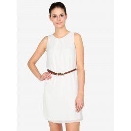 Krémové šaty s páskem Haily´s Tanja