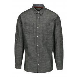 Tmavě šedá žíhaná slim fit košile Jack & Jones Ibiza