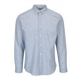 Světle modrá vzorovaná slim fit košile Selected Homme One Karter