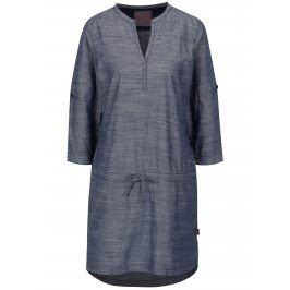 Modré žíhané šaty s 3/4 rukávy LOAP Nicia