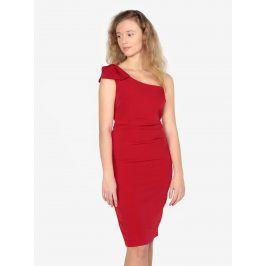 Červené asymetrické pouzdrové šaty Oasis Lolita