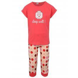 Růžové holčičí puntíkované pyžamo Lego Wear Nevada