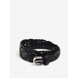 Černý kožený pásek Pieces Melina