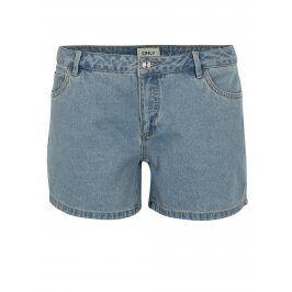 Světle modré džínové kraťasy s nízkým pasem ONLY Carmen
