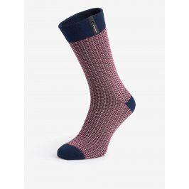 Modro-vínové pánské vzorované ponožky V páru