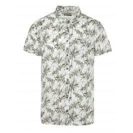 Zeleno-bílá vzorovaná košile Blend