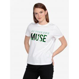 Bílé tričko s potiskem VERO MODA Henny