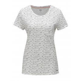 Bílé dámské vzorované tričko Cars Zazoe