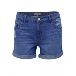 Modré džínové kraťasy s otrhaným efektem Dorothy Perkins