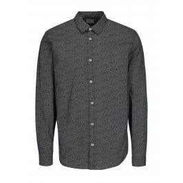 Bílo-černá vzorovaná slim fit košile Selected Homme One Mini