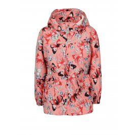 Růžová holčičí bunda s kapucí name it Mello