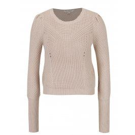 Béžový svetr s dlouhým rukávem Miss Selfridge