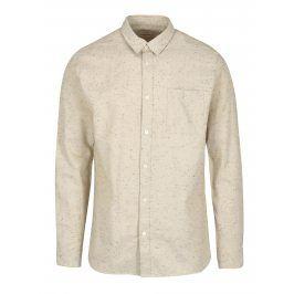 Béžová žíhaná košile s dlouhým rukávem Selected Homme Two Phillip