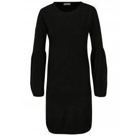 Černé šaty s rozšířeným rukávem Jacqueline de Yong Stardust
