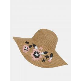 Světle hnědý klobouk se slaměnou výšivkou Dorothy Perkins