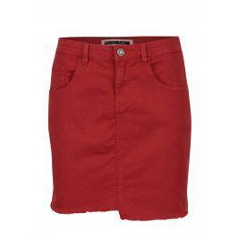 Červená džínová sukně Noisy May Nicole