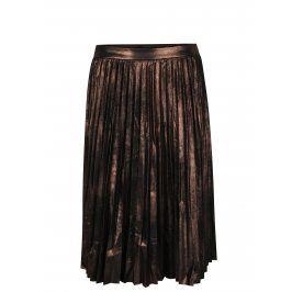 Hnědá metalická plisovaná sukně ONLY Joyce
