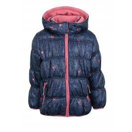Tmavě modrá holčičí zimní prošívaná bunda s kapucí Blue Seven