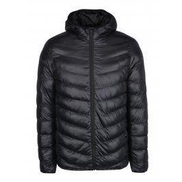 Černá prošívaná bunda s kapucí Burton Menswear London