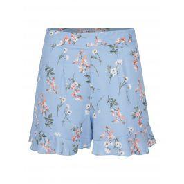 Modré květované kraťasy s vysokým pasem Miss Selfridge Petites