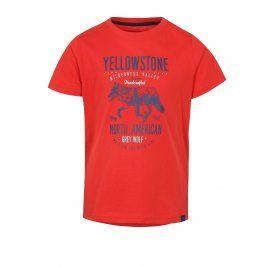 Červené dětské tričko s potiskem LOAP Ibby