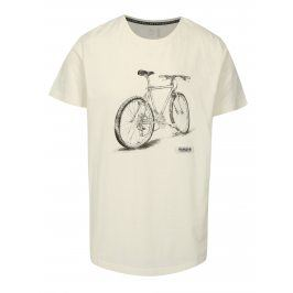 Krémové  pánské tričko s krátkým rukávem a potiskem Maloja