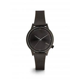 Černé dámské hodinky s kovovým páskem Komono Estelle Royale