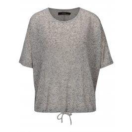 Šedé žíhané oversize tričko VERO MODA Pia
