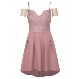 Starorůžové šaty Chi Chi London Lorrie